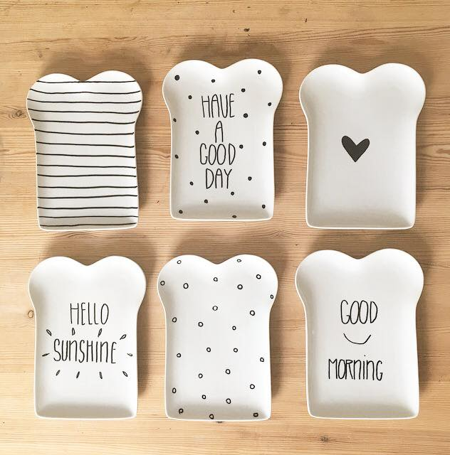 ontbijtbord - lievigheidje - puur van geluk